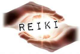Reiki photo of hands